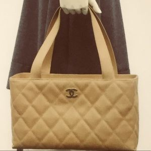 🆕 Chanel CC Quilted Leather Tote 👜